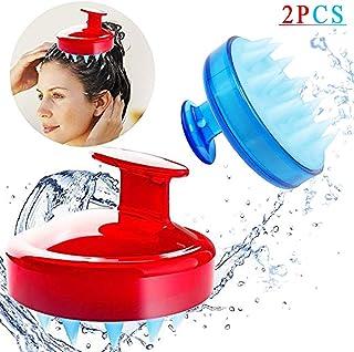 SILISCRUB - The Original Silicone Shampoo Brush Hair Scalp Massager (Red Blue)