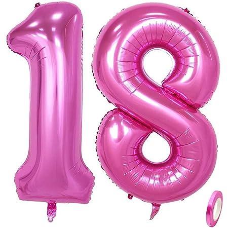 Jurxy Rose Rot Anzahl Luftballons Zahl 16 Geburtstag Folienballon Helium Folie Luftballons Für Geburtstag Jubiläum 40 Zoll Rosenrot 16 Amazon De Küche Haushalt