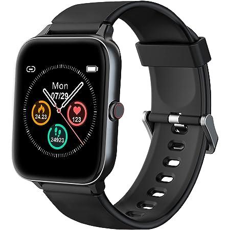 """IOWODO Smartwatch, Reloj Inteligente Hombre Mujer con 1.5"""" Táctil Completa 5ATM para Pulsómetro, Monitor de Sueño,Podómetro, Modo de Natación, Pulsera de Actividad Inteligente para Android iOS"""