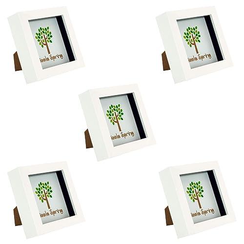 18d5261e607f Nicola Spring 4x4 (10 x 10cm) Square Box Glass Photo Picture Frame