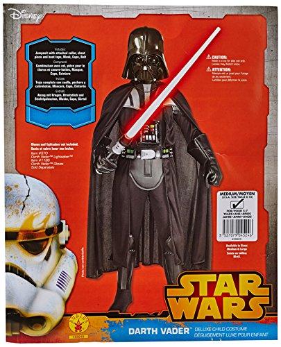 Lucas - St. 155 019 m - Disfraz joven - Lujo máscara de Darth Vader con estándar - Talla M