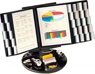 Aidata FDS021L-30 Flip and Find Reference Display Document Holder, Black, 30 Panels 60 Pages, Letter Size