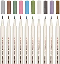 Metallic Marker Brush Pens for Scrapbooking,SAYEEC 10 Assorted Colors Metallic Colour Painting Marker Brush Tip Pen for Gr...