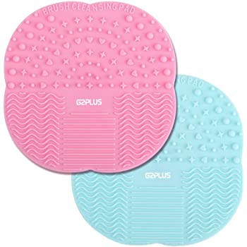 2 Stk Silikon Pinselreiniger Pinsel-Reinigung Brush Cleaner für Make-Up und Kosmetikpinsel 10CM * 10CM (MAT)
