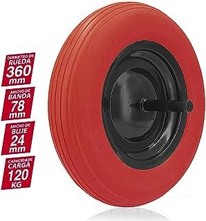 comprar comparacion Gayner - Rueda carretilla obra impinchable con eje, diámetro 360 mm