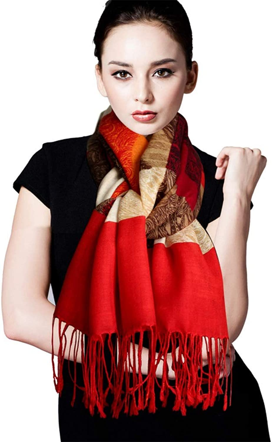 Stoles Wool Scarf Female Autumn and Winter Thin Section Cashmere Shawl Fashion Long Paragraph Scarf Warm Shawl Scarf (color   Red, Size   200  65cm)