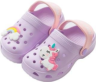 کودکان نوپا بچه های کوچک تک شاخ کفش دمپایی صندل ، دختران بدون لغزش پسرانه کفش اسلاید کفش های سبک وزن باغی دمپایی دوش استخر ساحلی