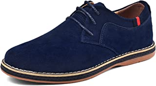 VanciLin Men's Casual Suede Leather Dress Working Shoes Lace-Up Oxford Shoes