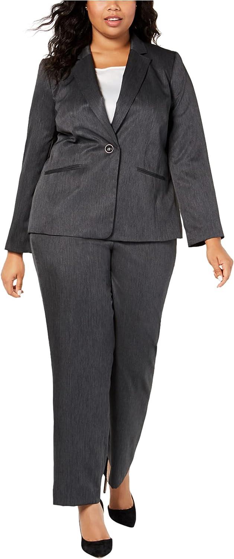 Le Suit Womens One Button Pant Suit