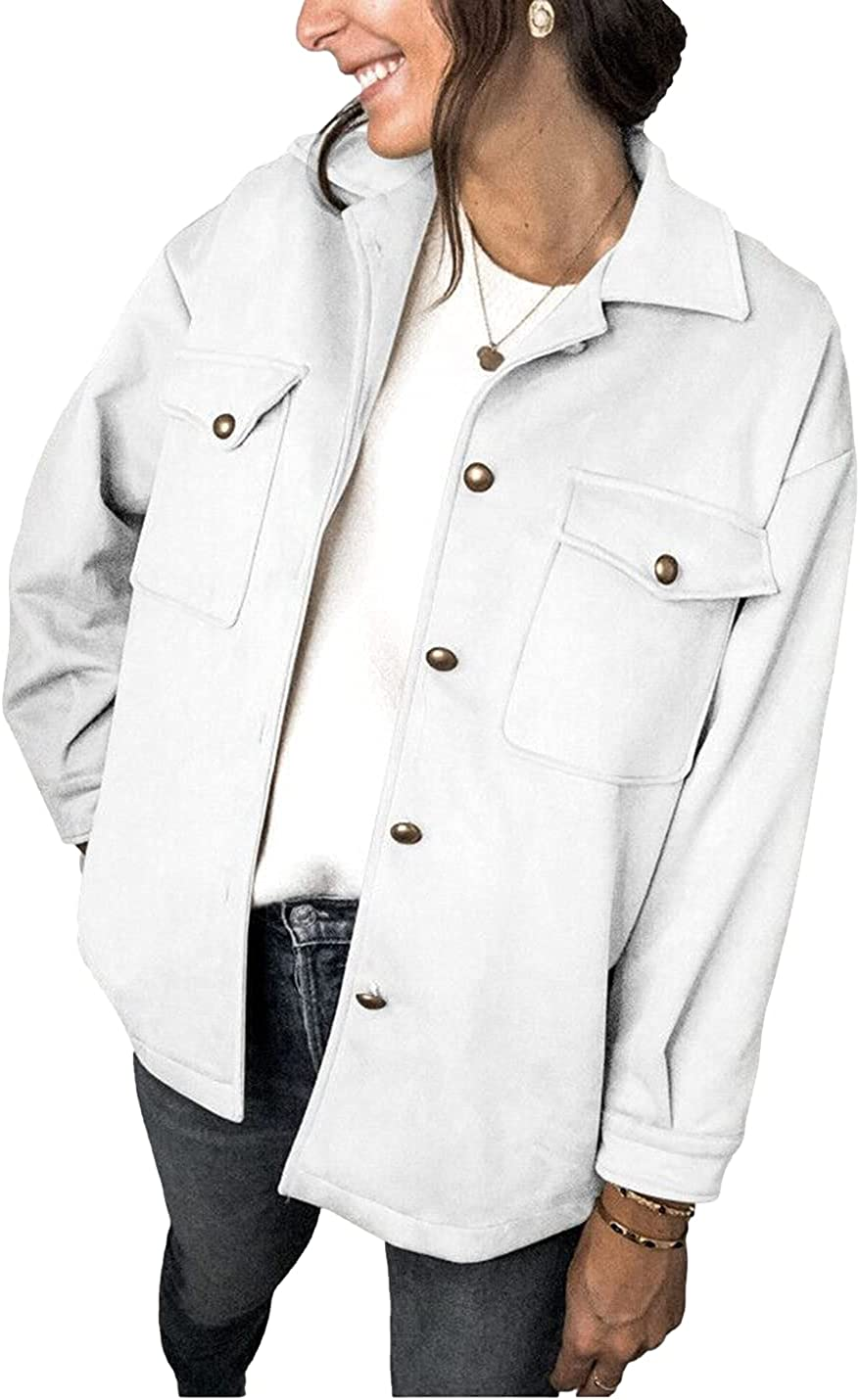 AMEBELLE Philadelphia Mall Women's Faux Suede San Diego Mall Jackets Pocketed Sleeve B Lapel Long