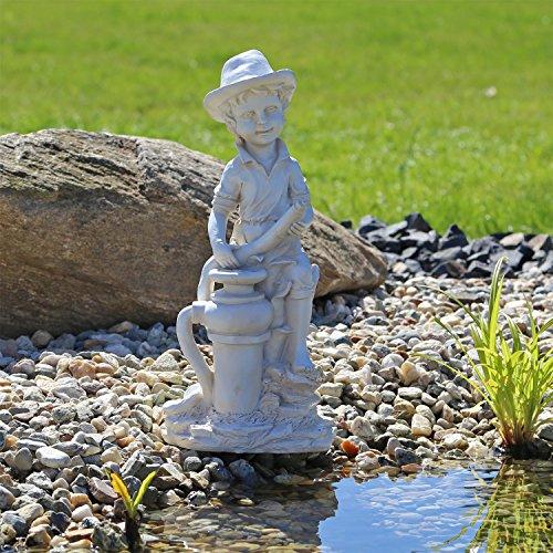"""Statua per Fontana """"Ragazzo"""" per Laghetto Stagno Scultura Decorazione per Il Giardino Arredo Esterno figurina Decorativa per Balcone Terrazza Esterno e Interno o per Gioco d'Acqua"""