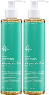 Earth Science Clarifying Facial Wash, Fragrance-free, 8-Ounce (Pack of 2)