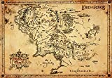 Pster de El Seor de los Anillos de GB Eye, Mapa pergamino, 65 x 3.5 x 3.5 cm