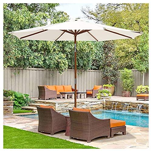 WUKALA Sombrillas para Jardin Terrazas de 9ft,Parasol Balcon Impermeable,a Prueba de Viento Y Sombrilla UV50 + para Playa Césped Exterior Trasero