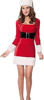 NuoReel Women's 2PC Mrs Santa Claus Dress Costume