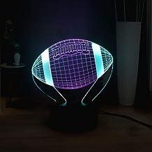 مصباح وهمي LED من شانتشونج، مصباح طاولة بمصباح، كرة قدم مبتكرة ثلاثية الأبعاد بصرية، إضاءة ليلية بصرية، معدات رياضية لتزيي...