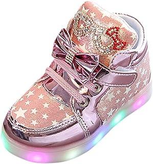 a49f56debd7 Zarupeng Niños LED Luz Fashion Sneakers Star Luminous Child Casual  Zapatillas Unisex Niño Botas Niño