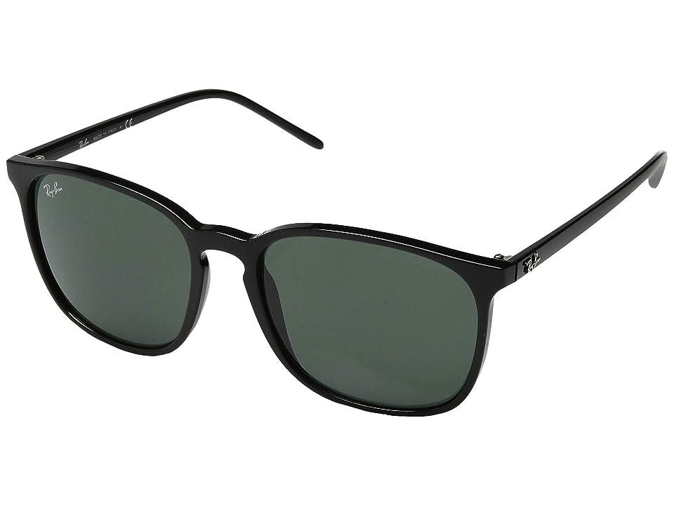 Ray-Ban RB4387 56 mm. (Black/Green) Fashion Sunglasses