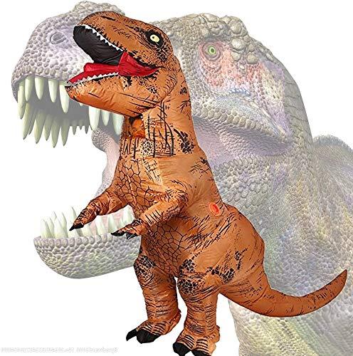 maofan Kerst Opblaasbare Kostuums, Leuke Dinosaurus Kostuums, Fancy Prom Jurken Brown