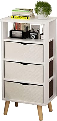 Amazon.com: DYFYMXSide Table Modern Assembly Lockers Bedside ...