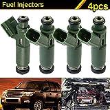 Dxlta Set de inyectores de combustible de 4 piezas para Denso Flow Match-Toyota Chevy 23250-22040