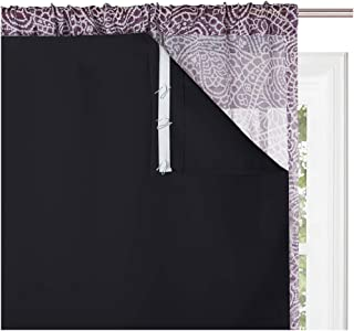 KGORGE 100% Blackout Curtains Liners - Sunlight Block Insulated Window Drapery Liner Thermal Insulation Drapes, Lining Easy Installation, Bonus Hooks Included (2 Pieces, 45