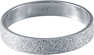 Quiges Stainless Steel Silver Sand Stardust Sparkle Glitter Inner Ring 4mm Height for Stackable Ring Collection