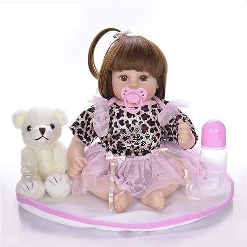 HWBB Reborn Baby Doll 18   46 cm Tuch   Simulation Baby Weiße Silikon Wiedergeburt Puppe Reborn Baby Lebensechte Junge mädchen Spielzeug Kinder Playmate Geburtstagsgeschenk