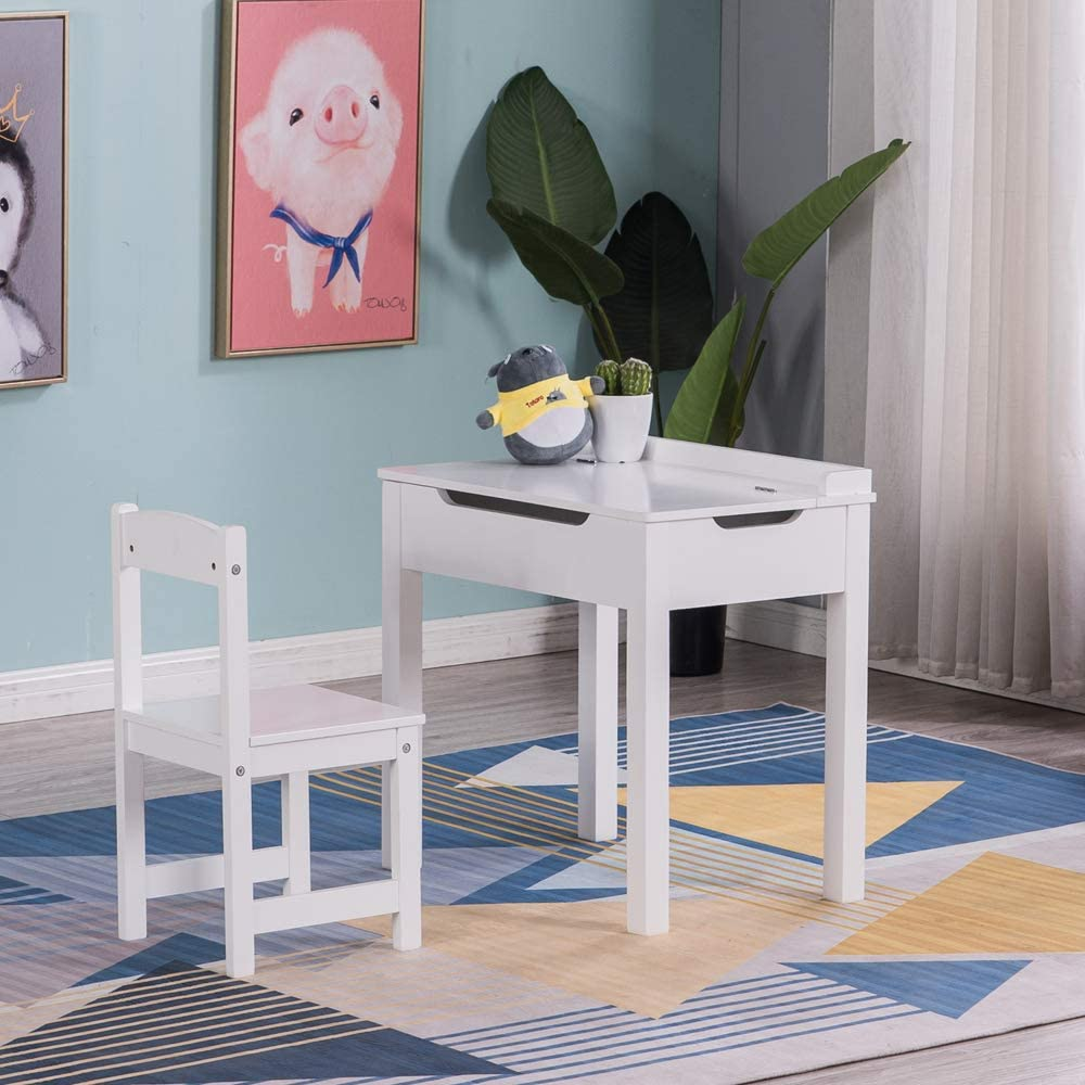 Wood Student Desk and Limited price Max 86% OFF Chair Set Study S Lift-Top with Table