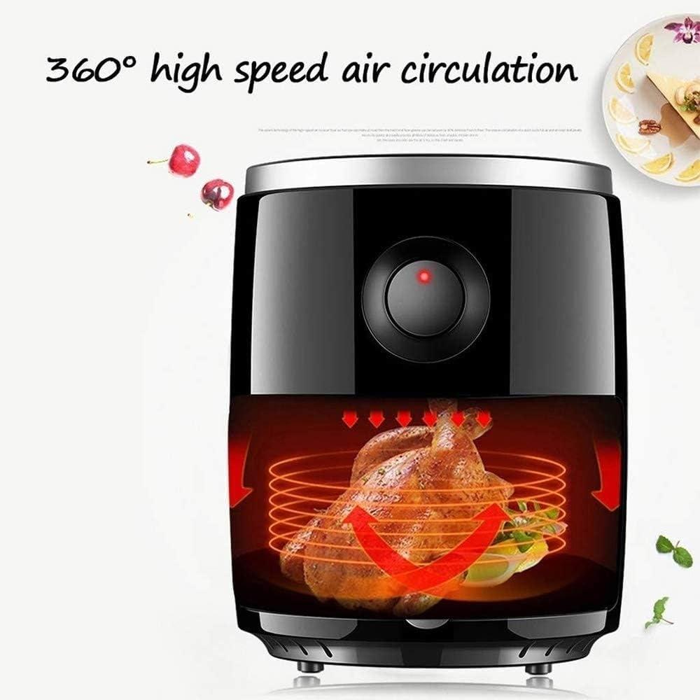 Multi-fonctions Air Fryer AutomatiquesMachines Nouveau Contrôle De La Température Fonction Antiadhésive Sans Huile De Cuisine (Color : Noir) Red