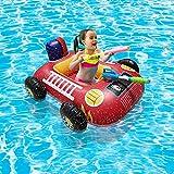 Yunbai Deluxe Baby Float Care Beach Juguetes, Anillo de natación Multicolor Anillo de Asiento Agua Piscina Piscina Juguete de Agua (Color : Red, Size : 40 * 31cm)