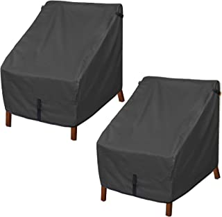 Porch Shield Patio Chair Covers - Waterproof Outdoor Lounge Deep Seat Cover - 34W x 37D x 36H inch, Black