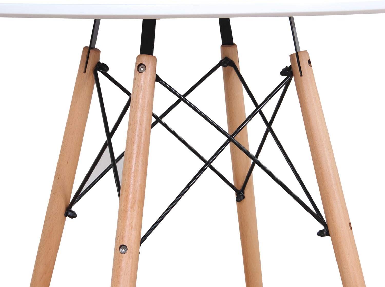 BenyLed Lot de 6 Chaises de Salle à Manger Contemporaines en Plastique Design Rétro Chaise D'appoint pour Salle à Manger, Cuisine, Bureau, Restaurant, etc (Blanc) Blanc-01