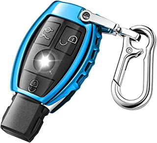 QBUC Car Key Fob Cover for Mercedes Benz,Soft TPU Key Case Key Shell Cover Protector with Keychain Compatible with Mercede...