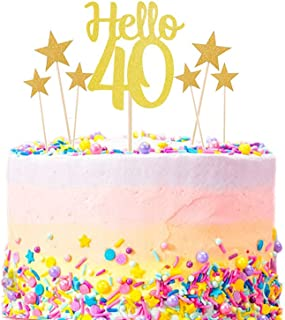 Best happy 40th cake topper Reviews