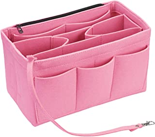 Felt Purse Organizer Insert with Zipper for Tote Handbag Fit LV Neverfull Speedy
