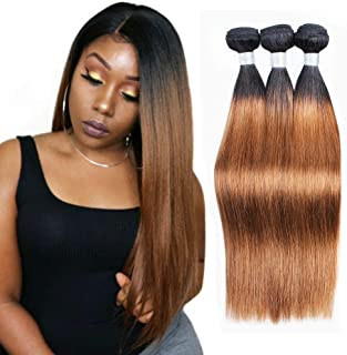 Nami Hair Ombre Color T1B/30 Brazilian Straight Hair Weaves 3 Bundles 100% Human Hair Extensions