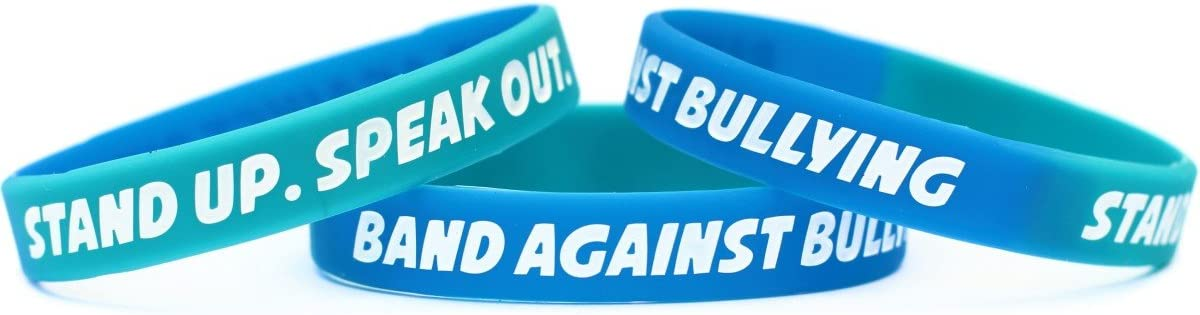 100 Anti Bullying Wristbands - Debossed Year-end gift Color Ba Silicone Some reservation Filled