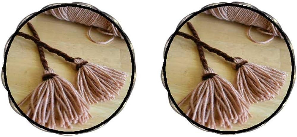 GiftJewelryShop Bronze Retro Style two Halloween witch broomstick Clip On Earrings Flower Earrings #12