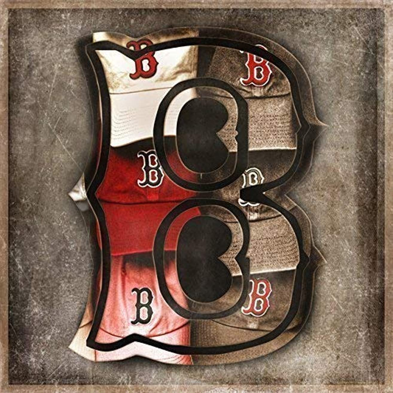 Boston Red Sox Sports Themed Man Cave Art, Choose Framed or Unframed Print or Canvas Wrap