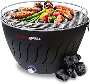 Portable Grill | Smokeless | Stainless Steel Electric Indoor/Outdoor Charcoal BBQ Grill W/Battery Operated Fan | Perfect for