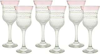 agfa Drinkware Set Of 6 Pieces - Light Pink Clear