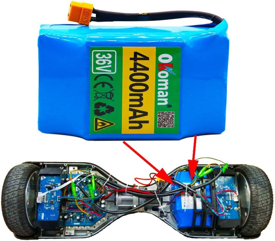 LUC 36 V 4,4 Ah 4400 mAh de flujo alto de 2 ruedas, patinete eléctrico autocompensante, batería de litio para autocompensación para 6,5