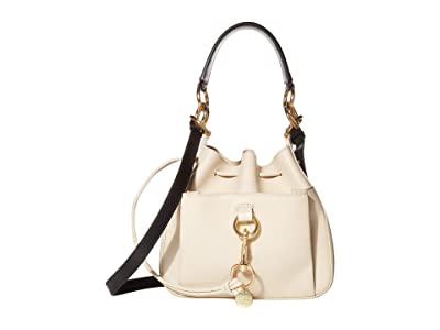 See by Chloe 11 Drawstring Leather Crossbody Bag (Cement Beige) Handbags