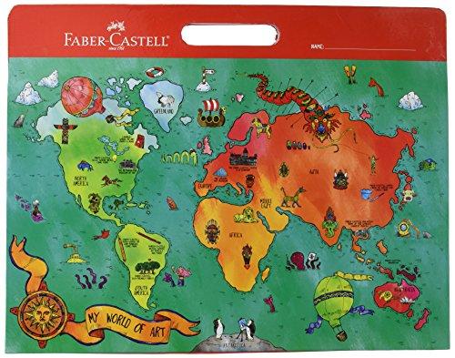 Faber-Castell My World of Art Portfolio for Kids - 8 Expandable Folder Pockets for Kid's Artwork and Keepsakes,