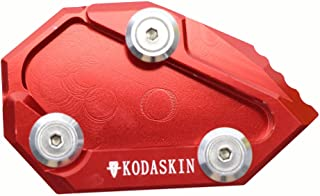 PRO-KODASKIN Motorcycle CNC Aluminum Side Stand Enlarge for Ducati Diavel 2010-2015 (Red)