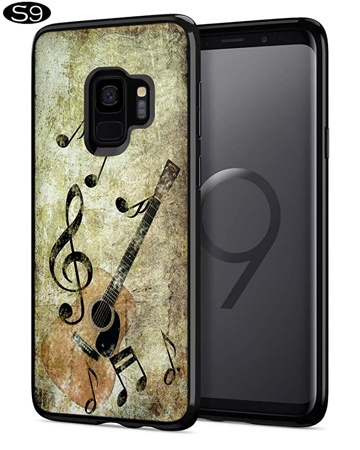 Music Covers for Galaxy S9,Casililor [TPU] [Anti-Slip] Premium Slim Protective Music Cover Case for Samsung Galaxy S9 - Archaic Art Music Guitar