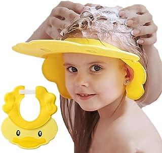 Baby Shower Cap Adjustable Silicone Shampoo Bath Cap Visor Cap Protect Eye Ear for Infants Toddlers Kids Children