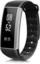 Fitness Tracker, EIVOTOR Activity Tracker with Wrist-Based Heart Rate Monitor, Water Resistant Smart Band with Step Tracker Sleep Monitor Calorie Counter Notification Alerts (Black))