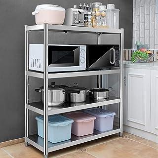 FenRui Estante de Cocina Rejilla de Horno de microondas de Acero Inoxidable Rejilla de gabinete de Cocina Multifuncional...